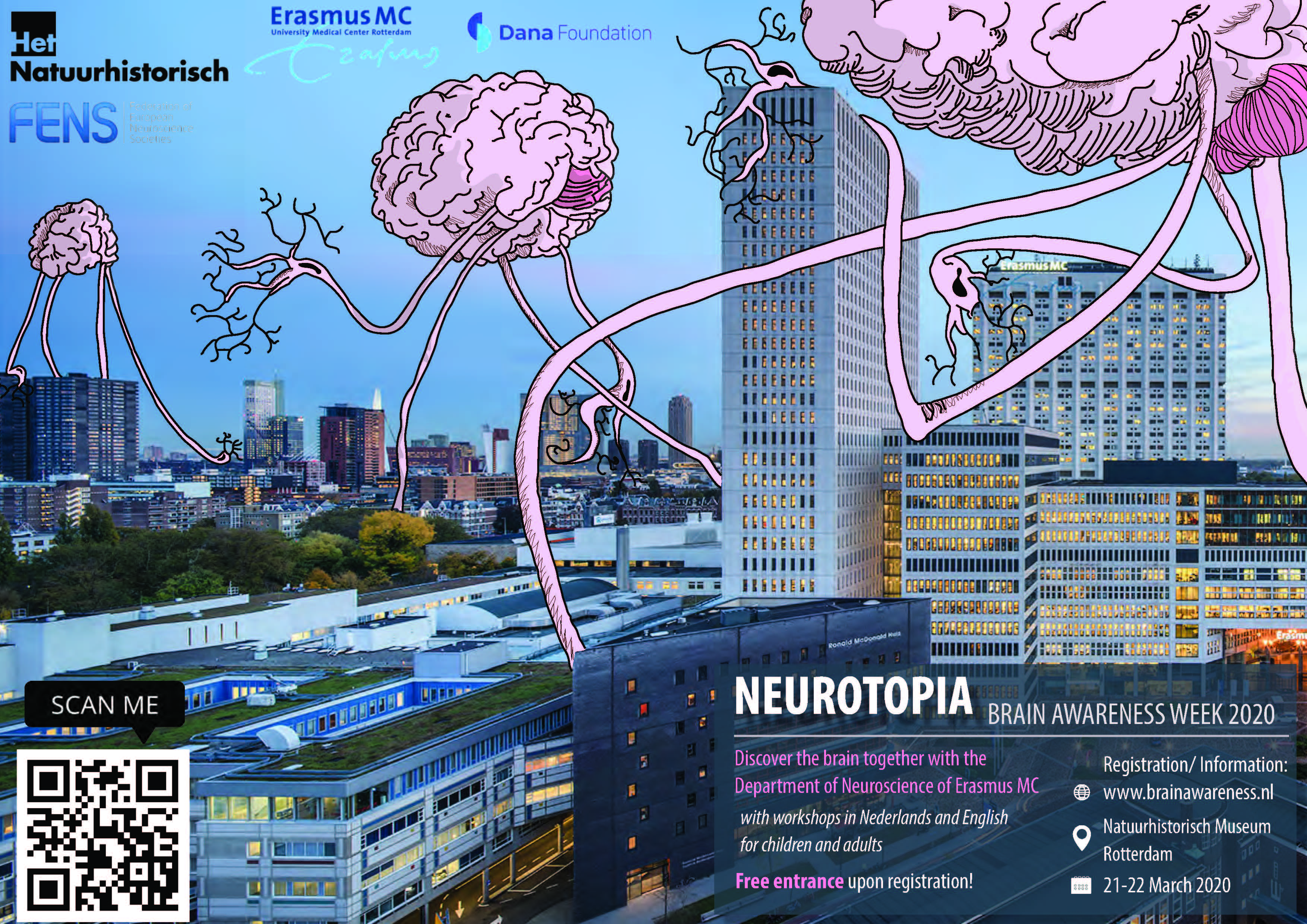 CANCELLED DUE TO COVID-19 Neurotopia - Brains take over the city - Brain Awareness Week 2020